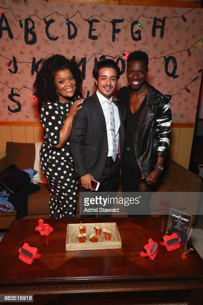 Yvette Nicole Brown Christian Navarro and Bernard David Jones attends the Entertainment Weekly and PEOPLE Upfronts party presented by Netflix and...