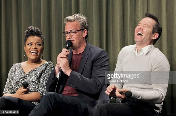 Yvette Nicole Brown Matthew Perry and Thomas Lennon attend the SAG Foundation Conversations Series with the cast of 'The Odd Couple' at the SAG...