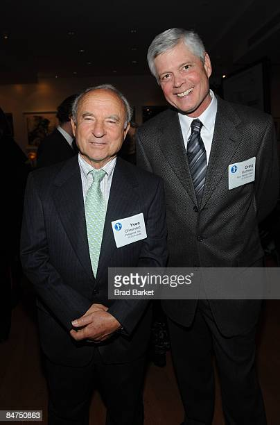 Yvon Chouinard and Craig Matthews founders of 1% attend 1% for The Planet Fete Major Environmental Accomplishments cocktail party on February 11 2009...