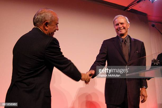 Yvon Chouinard and Tom Brokaw attend National Design Awards Honoring the Best in American Design at The CooperHewitt on October 20 2005 in New York...