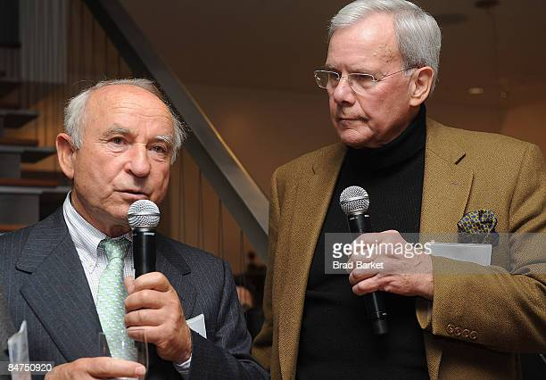 Yvon Chouinard and Tom Brokaw attends 1% for The Planet Fete Major Environmental Accomplishments cocktail party on February 11 2009 in New York City