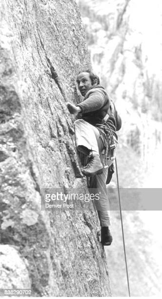 Yvon Chouinard climbs near Ophir wall during the threeday Mountainfilm festival in Telluride Credit The Denver Post