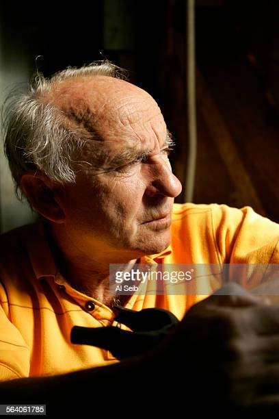 VENTURA CA Yvon Chouinard Patagonia founder/owner photographed in the tin shed the original Chouinard Equipment blacksmith shop located in Ventura...