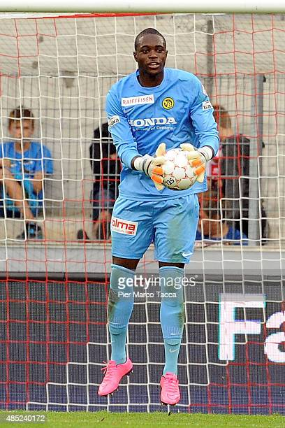 Yvon Mvogo of BSC Young Boys in action during the Raiffeisen Super League match between FC Sion and BSC Young Boys on August 23 2015 in Sion...