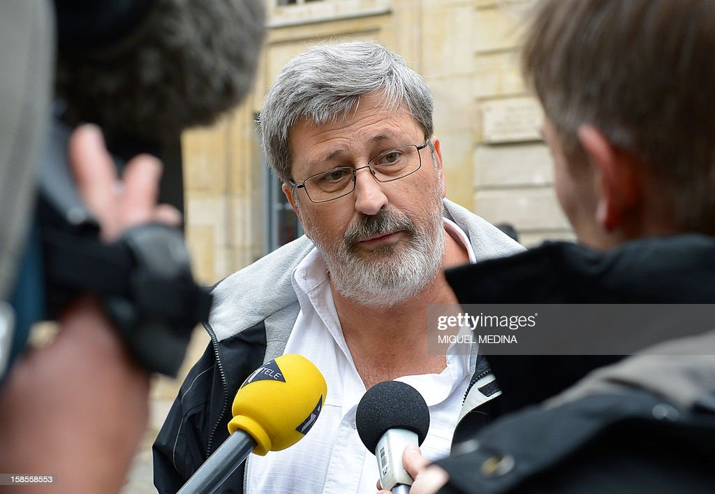 Yvon Scornet, unions' spokeman of the Petroplus oil refinery speaks to the press as he arrives for a meeting at the Hotel Matignon in Paris. Trade justice has extended for 6 months the observation period for the Petroplus refinery of Reichstett placed in receivership since the beginning of the year to finalize discussions with potential buyers.