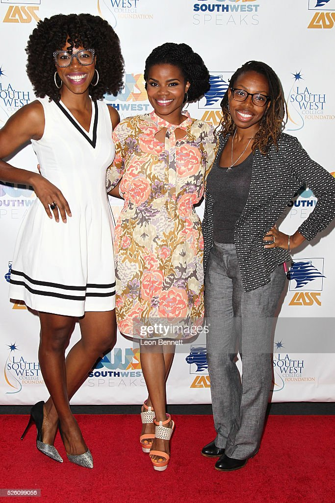 Yvonee Orji, Kelly Jenrette and Kamico Drake attends Hollywood Insiders Talk Diversity In Entertainment at L.A. Southwest College Foundation on April 29, 2016 in Los Angeles, California.