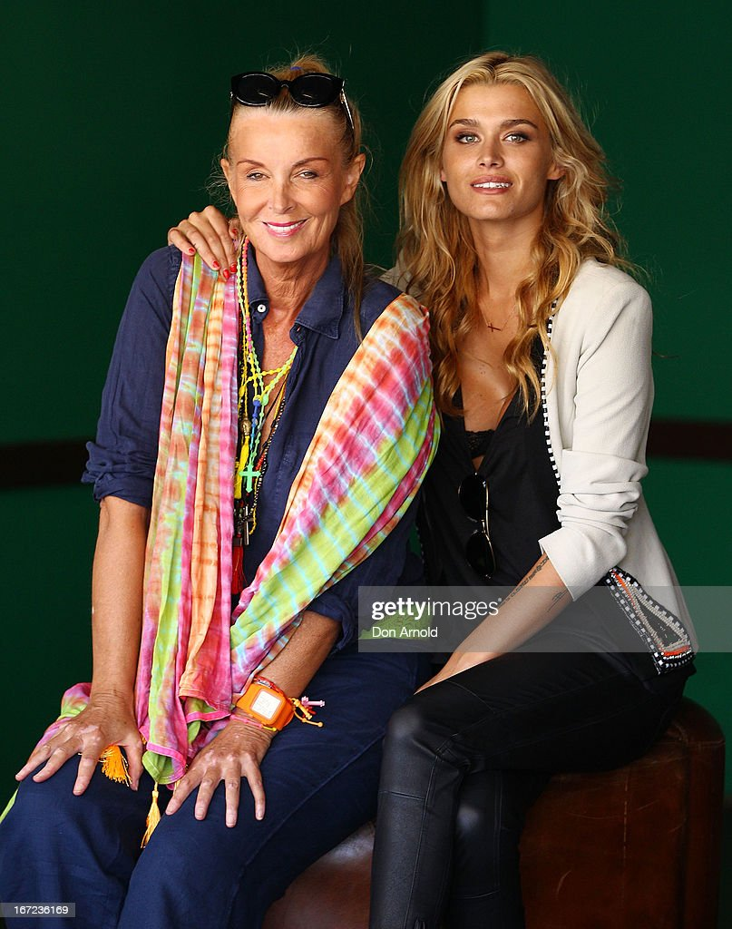 Yvonne and Cheyenne Tozzi pose during the COSMO 40 Years Celebration Lunch at Otto Ristorante on April 23, 2013 in Sydney, Australia.