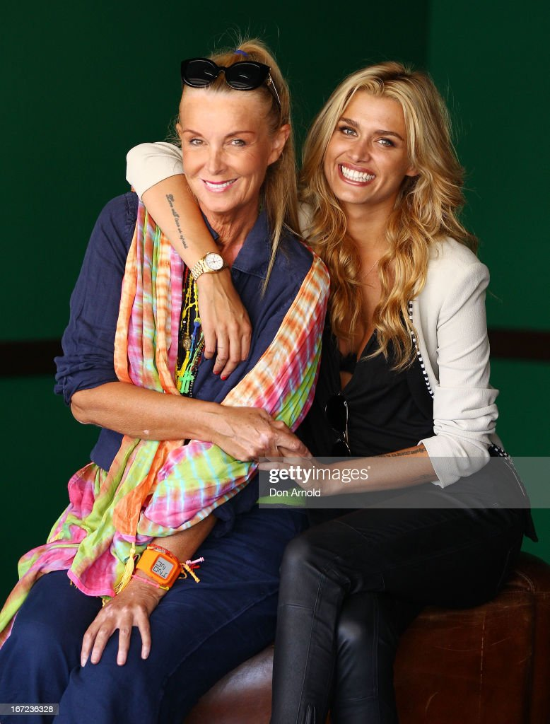 Yvonne and <a gi-track='captionPersonalityLinkClicked' href=/galleries/search?phrase=Cheyenne+Tozzi&family=editorial&specificpeople=220384 ng-click='$event.stopPropagation()'>Cheyenne Tozzi</a> pose during the COSMO 40 Years Celebration Lunch at Otto Ristorante on April 23, 2013 in Sydney, Australia.