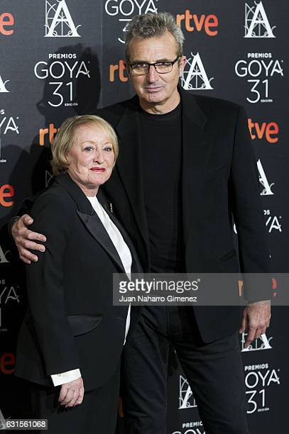 Yvonne Blake and Mariano Barroso attend Goya Awards Candidates 2016 Cocktail at Ritz Hotel on January 12 2017 in Madrid Spain