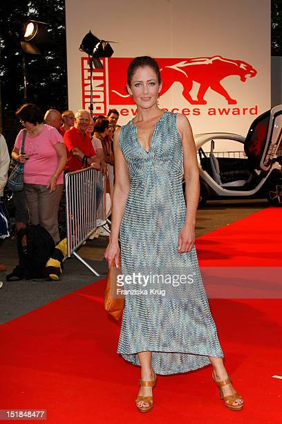 Yvonne Burbach attends the red carpet for the New Faces Award Fashion 2012 at Rheinterrasse on July 28 2012 in Duesseldorf Germany