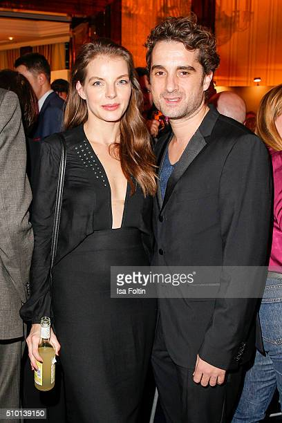 Yvonne Caterfeld and Oliver Wnuk attend the Medienboard BerlinBrandenburg Reception on February 13 2016 in Berlin Germany