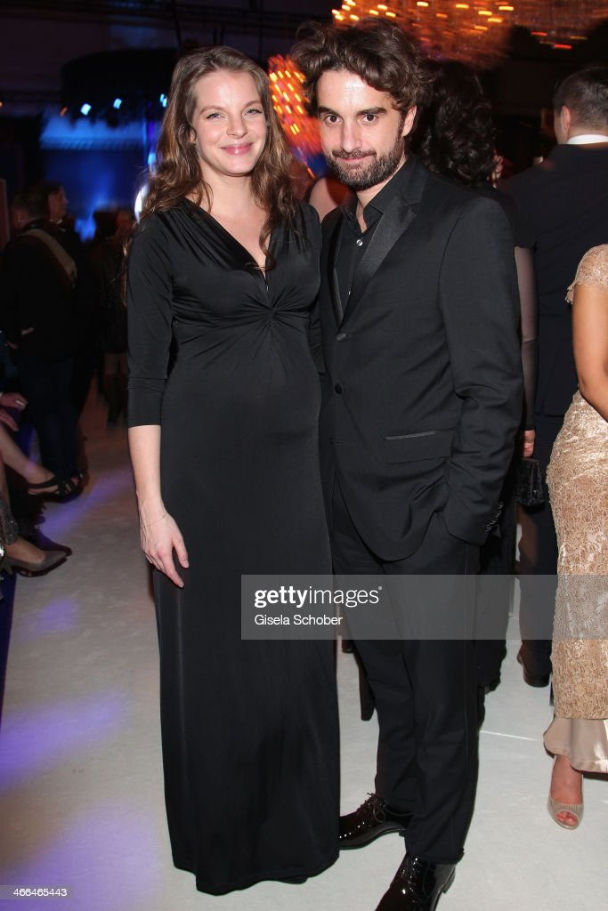 Yvonne Catterfeld and boyfriend Oliver Wnuk attend the after show party of Goldene Kamera 2014 Hangar 7 at Tempelhof Airport on February 1 2014 in...