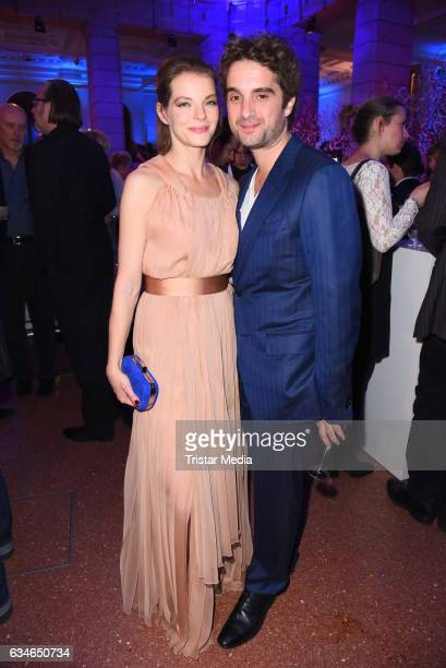 Yvonne Catterfeld and her boyfriend Oliver Wnuk attend the Blue Hour Reception hosted by ARD during the 67th Berlinale International Film Festival...