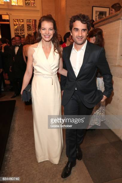 Yvonne Catterfeld and her boyfriend Oliver Wnuk during the Berlin Opening Night by GALA and UFA Fiction at hotel 'The Stue' on February 9 2017 in...