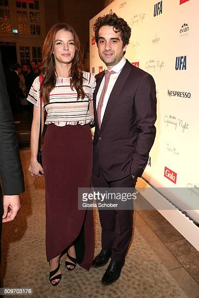 Yvonne Catterfeld and her partner Oliver Wnuk during the 'Berlin Opening Night of GALA UFA Fiction' at Das Stue Hotel on February 11 2016 in Berlin...
