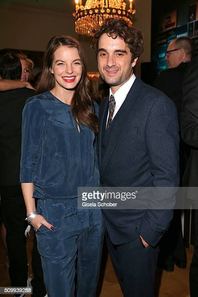 Yvonne Catterfeld and her partner Oliver Wnuk during the Bunte and BMW Festival Night 2016 during the 66th Berlinale International Film Festival...