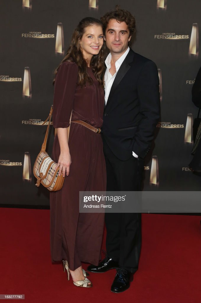 Yvonne Catterfeld and Oliver Wnuk arrive for the German TV Award 2012 at Coloneum on October 2 2012 in Cologne Germany