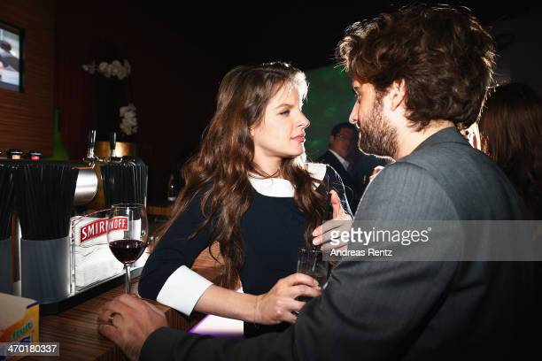 Yvonne Catterfeld and Oliver Wnuk attend the after show party to the World premiere of Stromberg Der Film at Diamonds on February 18 2014 in Cologne...