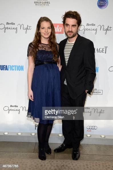 Yvonne Catterfeld and Oliver Wnuk attend the Berlin Opening Night Of Gala Ufa Fiction during the 64th Berlinale International Film Festival at Hotel...