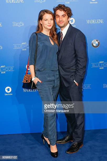 Yvonne Catterfeld and Oliver Wnuk attend the Blue Hour Reception hosted by ARD during the 66th Berlinale International Film Festival Berlin on...