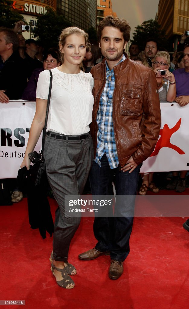 Yvonne Catterfeld and Oliver Wnuk attend the First Steps Award 2011 at the Theater Am Potsdamer Platz on August 23 2011 in Berlin Germany
