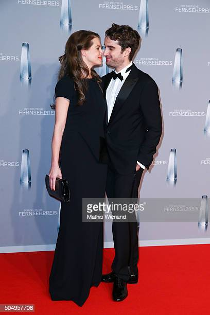 Yvonne Catterfeld and Oliver Wnuk attend the German Television Award at Rheinterrasse on January 13 2016 in Duesseldorf Germany