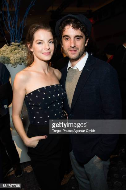 Yvonne Catterfeld and Oliver Wnuk attend the Medienboard BerlinBrandenburg Reception during the 67th Berlinale International Film Festival Berlin at...
