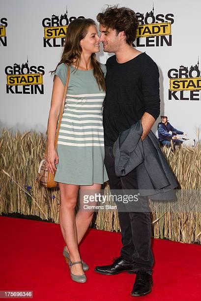 Yvonne Catterfeld and Oliver Wnuk attend the premiere of 'Grossstadtklein' at Kino in der Kulturbrauerei on August 6 2013 in Berlin Germany