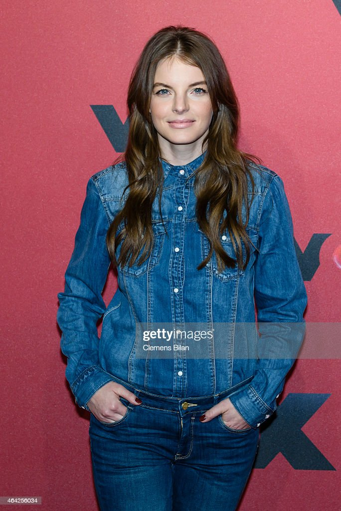 Yvonne Catterfeld attends a photocall for the TV show 'Sing meinen Song' on February 23 2015 in Berlin Germany