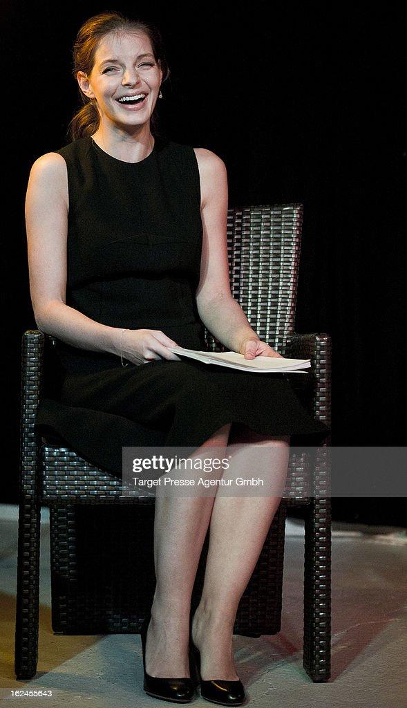 Yvonne Catterfeld attends the presentation of Oliver Wnuks book 'Luftholen' at Backfabrik on February 23, 2013 in Berlin, Germany.
