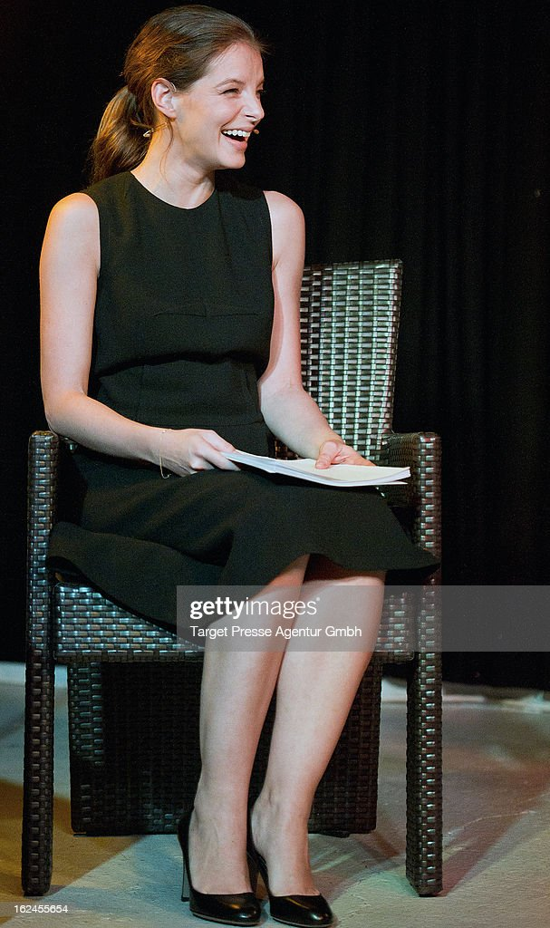 Yvonne Catterfeld attends the presentation of Oliver Wnuks book 'Luftholen' at Backfabrik on February 23, 2013 in Berlin, Germany.