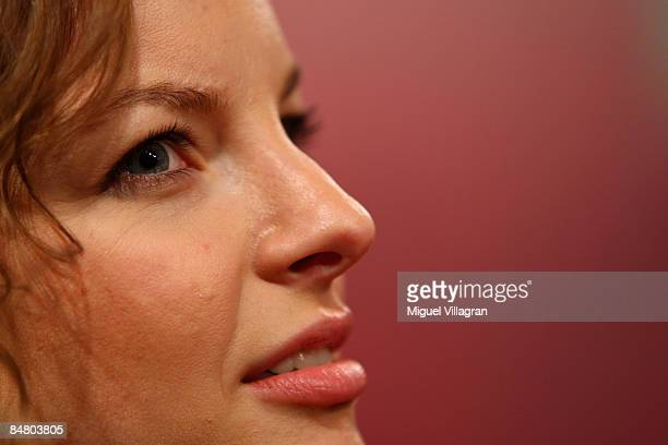 Yvonne Catterfeld looks on during the premiere of the movie 'Lilli The Witch The Dragon And The Magical Book' on February 15 2009 in Munich Germany...