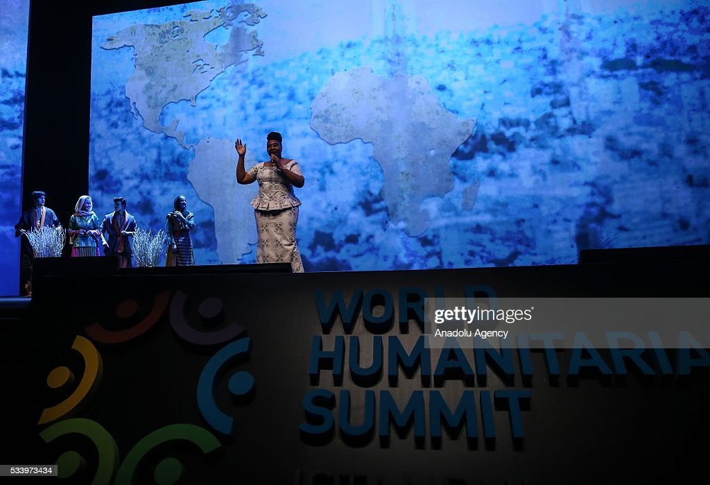 Yvonne Chaka Chaka performs during the closing ceremony of World Humanitarian Summit at Istanbul Congress Center, in Istanbul, Turkey on May 24, 2016.