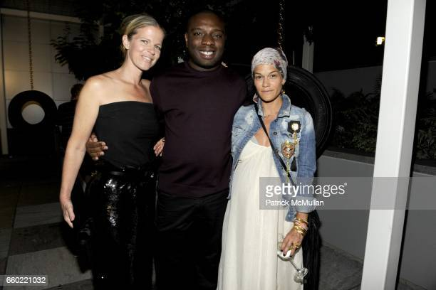 Yvonne Force Villareal Kalup Linzy and Jenne Lombardo attend A MAGAZINE Curated by PROENZA SCHOULER Launch Party at Soho Mews on July 13 2009 in New...