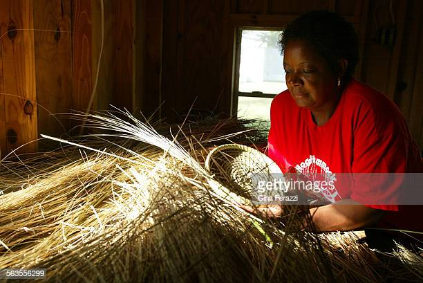 Yvonne Grovner of the Hog Hammock Community of Sapelo Island stores her sweetgrass in a backyard shed Basket making has been a family tradition for...