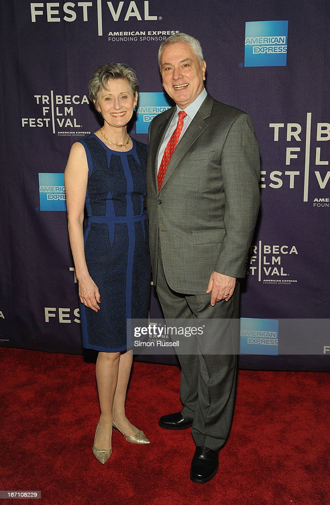 Yvonne Marceau and Pierre Dulaine attend the 'Dancing In Jaffa' World Premiere at the AMC Loews Village 7 during the 2013 Tribeca Film Festival on April 20, 2013 in New York City.