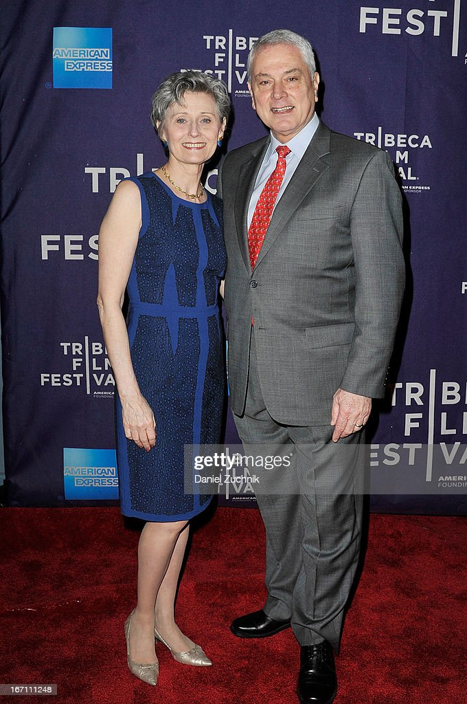 Yvonne Marceau and Pierre Dulaine attend the screening of 'Dancing in Jaffa' during the 2013 Tribeca Film Festival at AMC Loews Village 7 on April 20, 2013 in New York City.