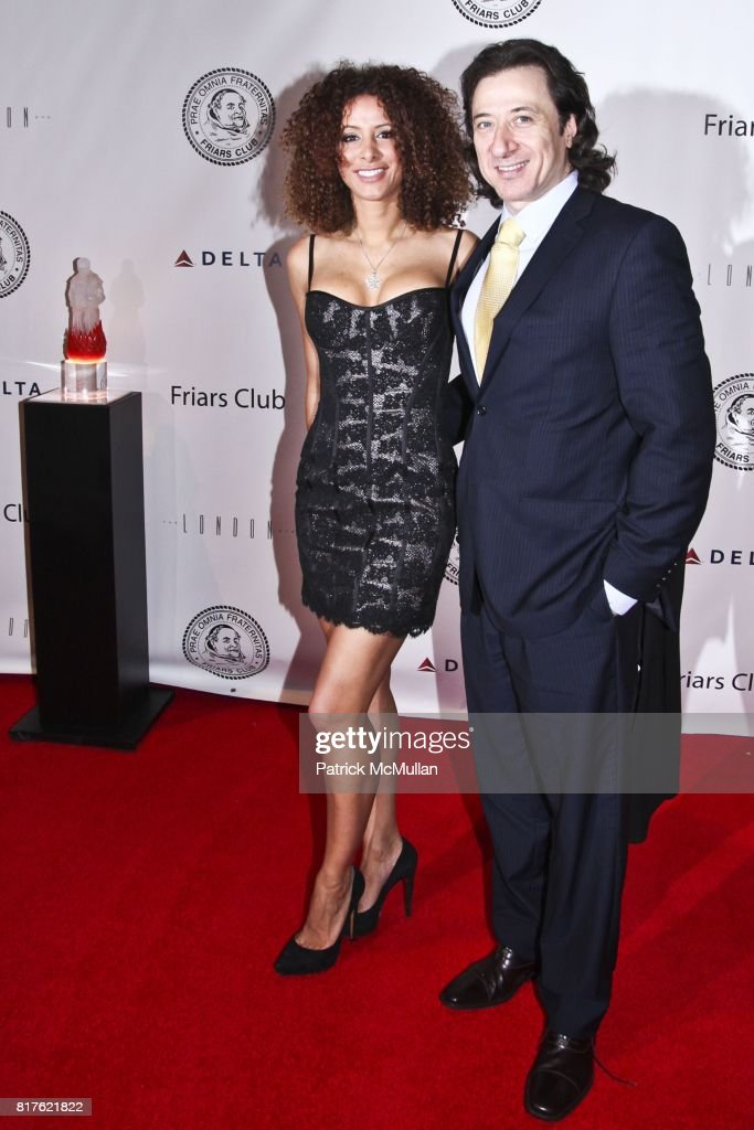 Yvonne Maria Schaefer and Federico Castelluccio attend THE NEW YORK FRIARS CLUB ROAST OF QUENTIN TARANTINO at Friars Club on December 1, 2010 in New York City.