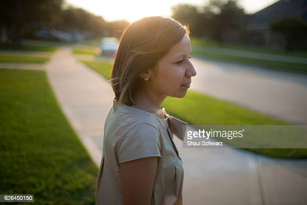 Yvonne Mendoza walks in her neighborhood at sunset Yvonne is a first generation MexicanAmerican whose personal experiences with depression provide...