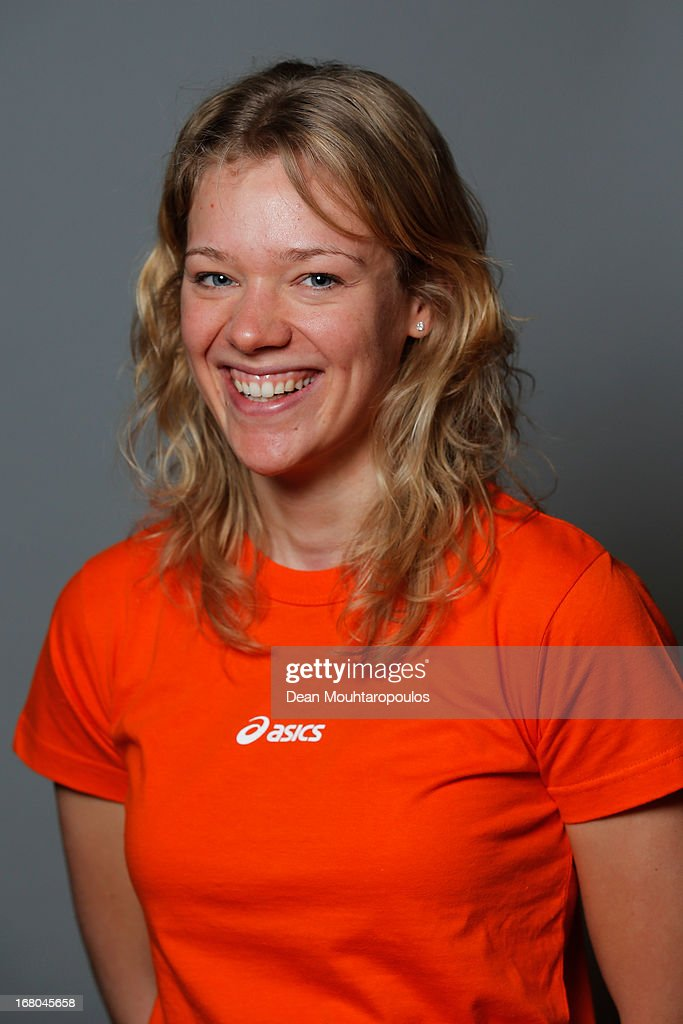 Yvonne Nauta, poses during the NOC*NSF (Nederlands Olympisch Comite * Nederlandse Sport Federatie) Sochi athletes and officials photo shoot for Asics at the Spoorwegmuseum on May 4, 2013 in Utrecht, Netherlands.