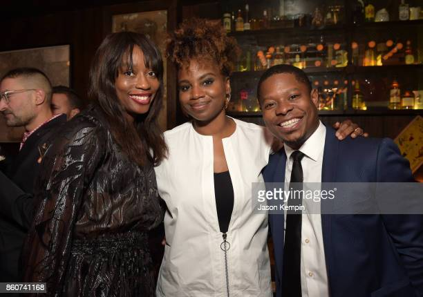 Yvonne Orji Director Dee Rees and Jason Mitchell attend the 'Mudbound' afterparty following the screening at the 55th New York Film Festival on...