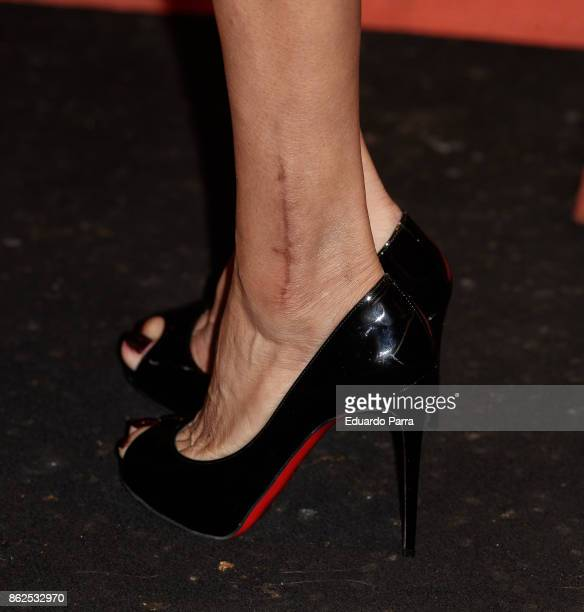Yvonne Reyes shoes detail attends the 'Yvonne Reyes birthday party' photocall at Gabana disco on October 17 2017 in Madrid Spain