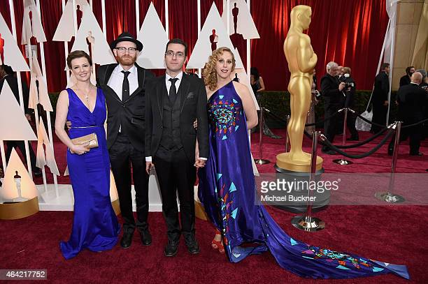 Yvonne Ross Paul Young Tomm Moore and Liselott Olofsson attend the 87th Annual Academy Awards at Hollywood Highland Center on February 22 2015 in...