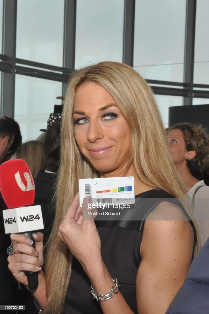 Yvonne Rueff poses during a press conference for the 'Dancer Against Cancer' Fruehlingsball at Donauturm on April 5, 2013 in Vienna, Austria.