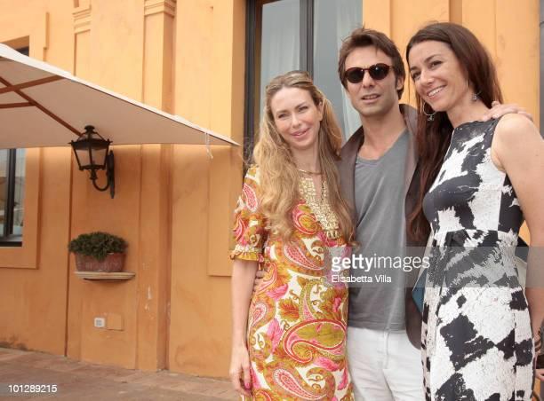 Yvonne Scio Alessandro Preziosi and Marie Louise Scio attend a Picnic Swing at 'La Posta Vecchia' on May 30 2010 in Ladispoli Italy