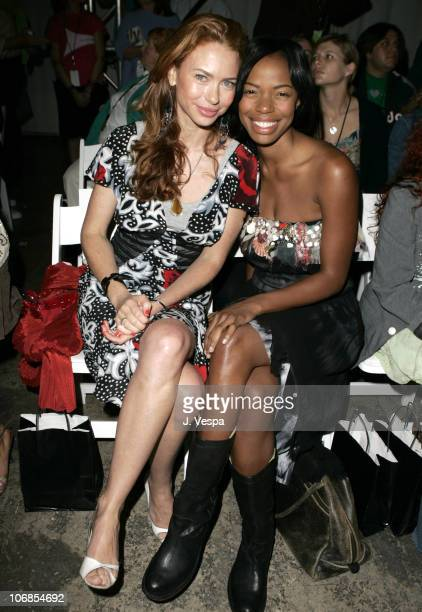 Yvonne Scio and Jill Jones during MercedesBenz Fall 2005 LA Fashion Week at Smashbox Studios Meghan Front Row at Smashbox Studios in Culver City...
