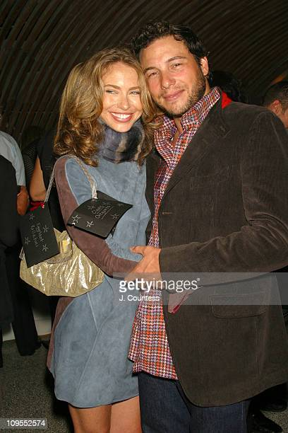 Yvonne Scio and Rocco DiSpirito during Launch Party for 'Kevyn Aucoin A Beautiful Life' by Harper's Bazaar Beauty Director Kerry Diamond at Maritime...