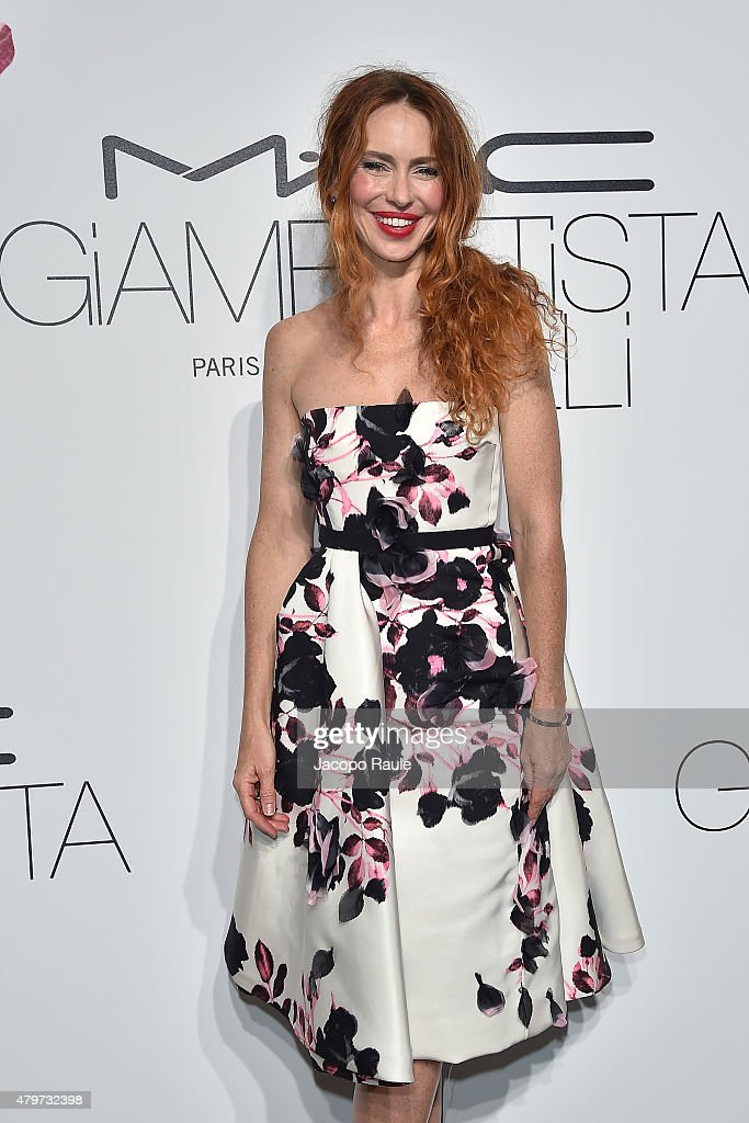 Yvonne Scio attends MAC Cosmetics Giambattista Valli Floral Obsession Ball In Paris at Opera Garnier on July 6 2015 in Paris France