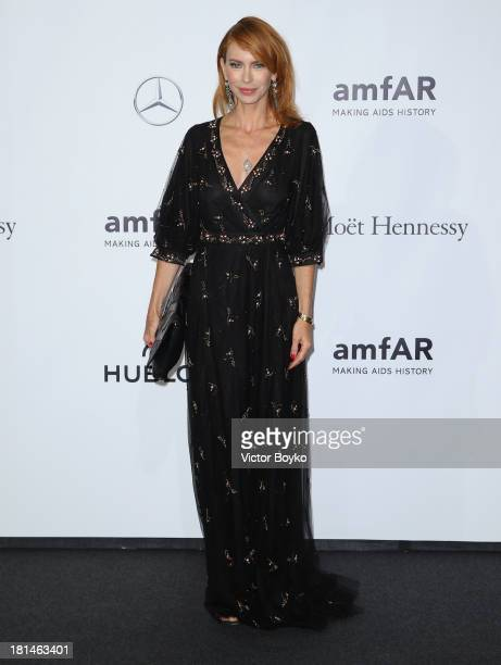 Yvonne Scio attends the amfAR Milano 2013 Gala as part of Milan Fashion Week Womenswear Spring/Summer 2014 at La Permanente on September 21 2013 in...