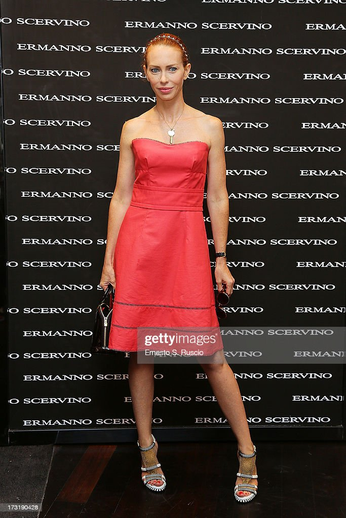 <a gi-track='captionPersonalityLinkClicked' href=/galleries/search?phrase=Yvonne+Scio&family=editorial&specificpeople=240384 ng-click='$event.stopPropagation()'>Yvonne Scio</a> attends the Ermanno Scervino Store Opening as a part of AltaRoma AltaModa on July 9, 2013 in Rome, Italy.